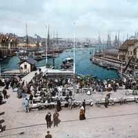Fish Market in Bergen around 1900