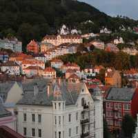 Houses on the Hill in Bergen, Norway