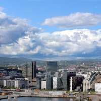 Full Cityscape and Skyline View of Oslo, Norway