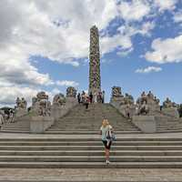 Vigeland Park with Tourists