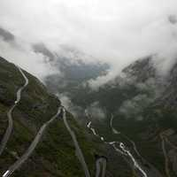 Foggy Mountain Roads in Norway