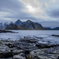 Sea, sky, and mountains at Lofoten