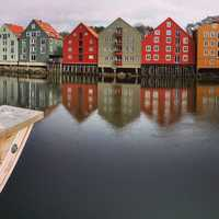 Buildings in Trondheim and part of the skyline
