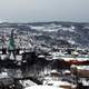 Trondheim city view in the snow, Norway