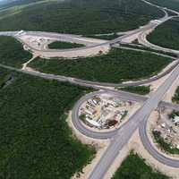Aerial view of highways in Mexico
