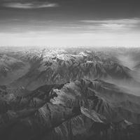 Aerial View of mountains landscape