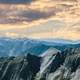 Beautiful Landscape Panoramic of the mountaintops