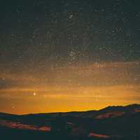 Hills under the Stars night landscape
