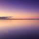 Lake landscape under Purple Dusk