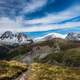 Landscapes and Mountain Peaks with Clouds in Aiguille de Mesure