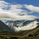 Mount Cook shrouded in Clouds in New Zealand