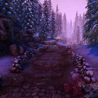 Purplish Woods and Path Landscape