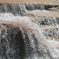 Rushing water of a waterfall at Bull run