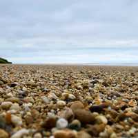 Pebbles on the beach landscape