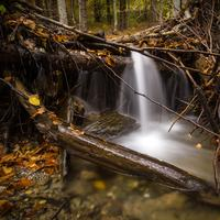 Small Cascade and Waterfall in Nature