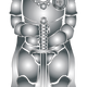 Steel Knight Vector Clipart