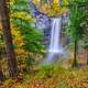 Waterfalls scenery in the fall
