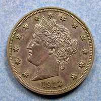1913 5 cent piece coin