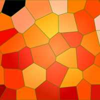 Background pattern of orange Mosaic