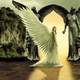 Beautiful Angel in a doorway