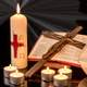 Bible, Candle, and Cross