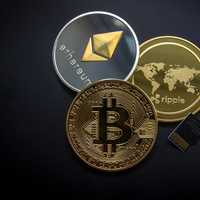 Bitcoin, Ethereum and world coin