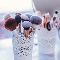 Brushes in a Beauty Salon