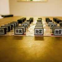 Chinese Army Chess setup on a table