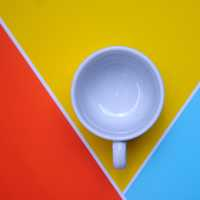 Cup on three Colored Background