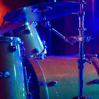 Drumset instrument on stage