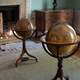 Globes sitting in a room