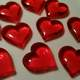 Group of Red Hearts on a table
