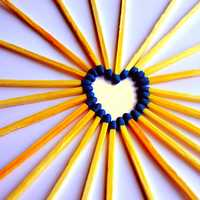 Heart Made from Matches