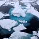 Ice and snow in the arctic waters