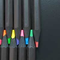 Interlocking colored Pencils