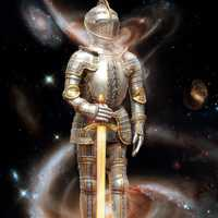 Knight Standing within the Galaxy