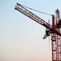 Large Red Load Crane