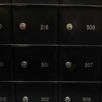 Mailbox numbers in apartment building