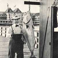 Man with Large Amberjack Catch