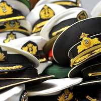 Marine Hats in a group