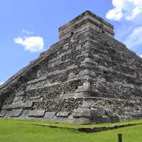Mesoamerican Pyramid under the sky