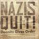 Nazis quit poster, surrender of Germany during WWII