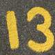 Yellow Number Thirteen