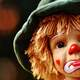 Sad Clown Face on doll