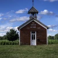 Schoolhouse at Dells Mill from 1866