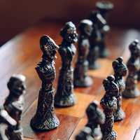 Silver Chess Pieces