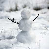 Small Snowman in winter