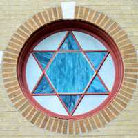 Star of David Window Art