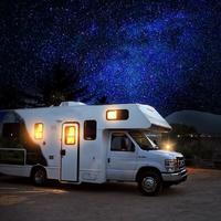 Starry Skies above the camper car