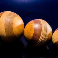 Three Wooden Balls
